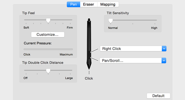 Pan/Scroll is ideal for navigating with your pen