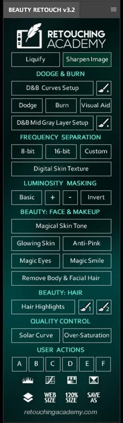Beauty Retouch v3.2 panel