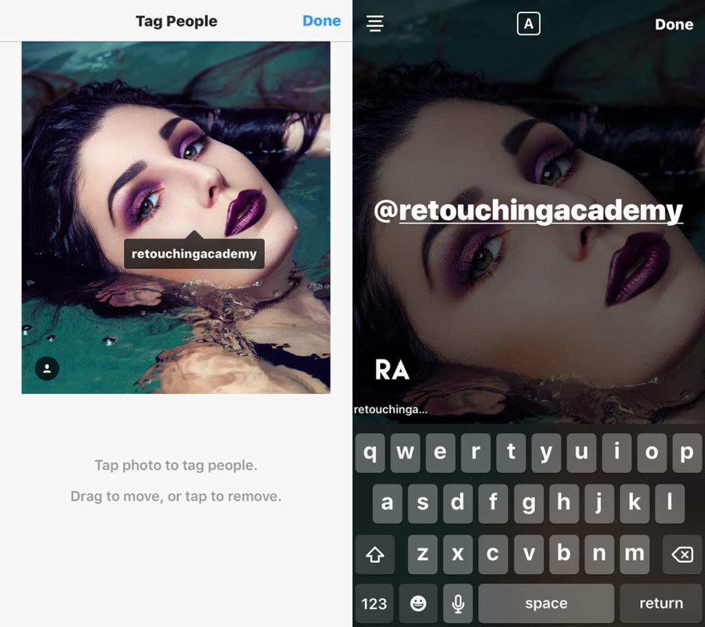 how to tag users in instagram posts and stories