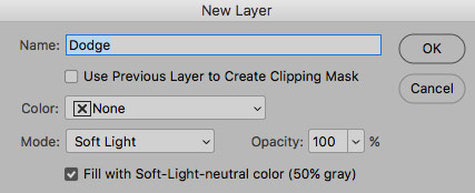 new layer for dodging and burning