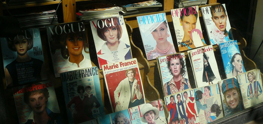 selection of historical fashion magazines