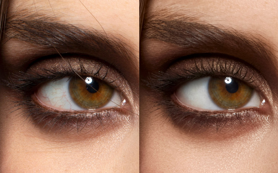 macro eye beauty retouching